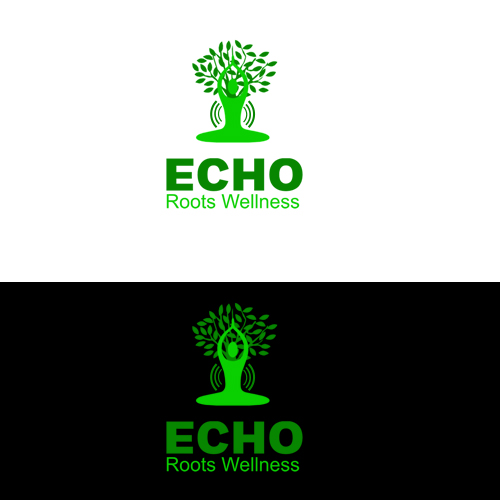 Logo Design by Bobby Yoga P - Entry No. 10 in the Logo Design Contest Funky Logo Design for Echo Roots Wellness.