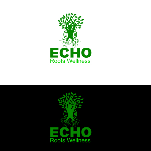 Logo Design by Bobby Yoga P - Entry No. 11 in the Logo Design Contest Funky Logo Design for Echo Roots Wellness.