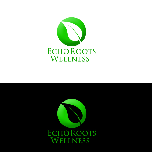 Logo Design by Bobby Yoga P - Entry No. 12 in the Logo Design Contest Funky Logo Design for Echo Roots Wellness.