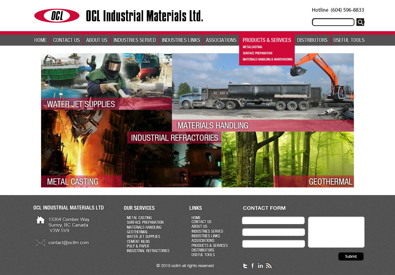 Web Page Design by 3draw - Entry No. 56 in the Web Page Design Contest Imaginative Web Page Design for OCL Industrial Materials Ltd..