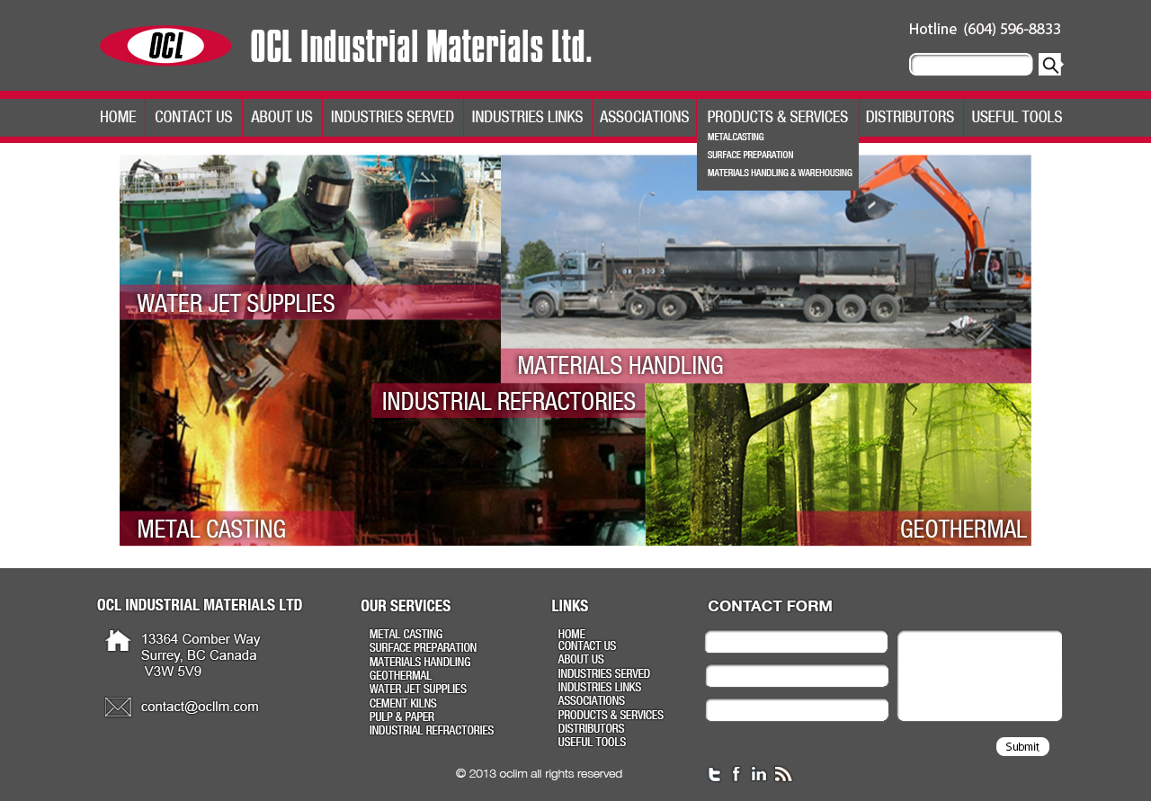 Web Page Design by 3draw - Entry No. 57 in the Web Page Design Contest Imaginative Web Page Design for OCL Industrial Materials Ltd..