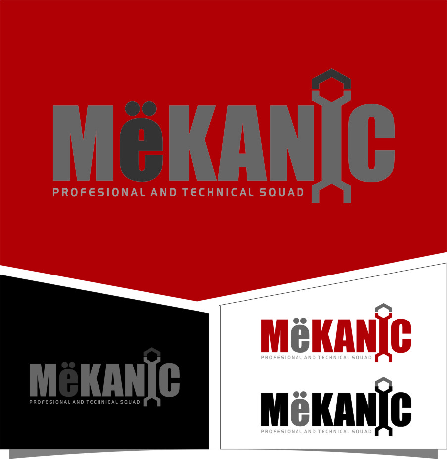 Logo Design by RasYa Muhammad Athaya - Entry No. 276 in the Logo Design Contest Creative Logo Design for MËKANIC - Professional and technical squad.