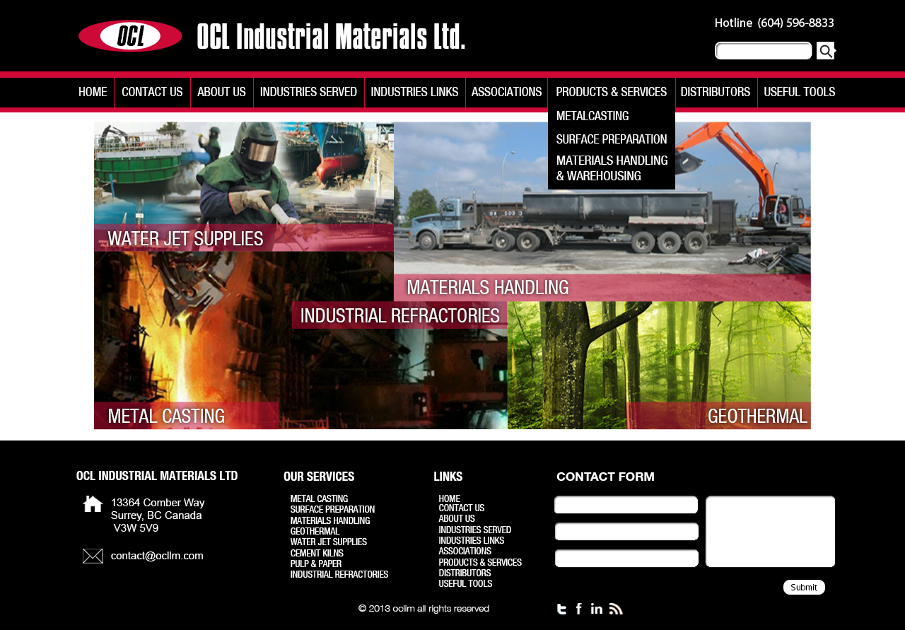 Web Page Design by 3draw - Entry No. 58 in the Web Page Design Contest Imaginative Web Page Design for OCL Industrial Materials Ltd..