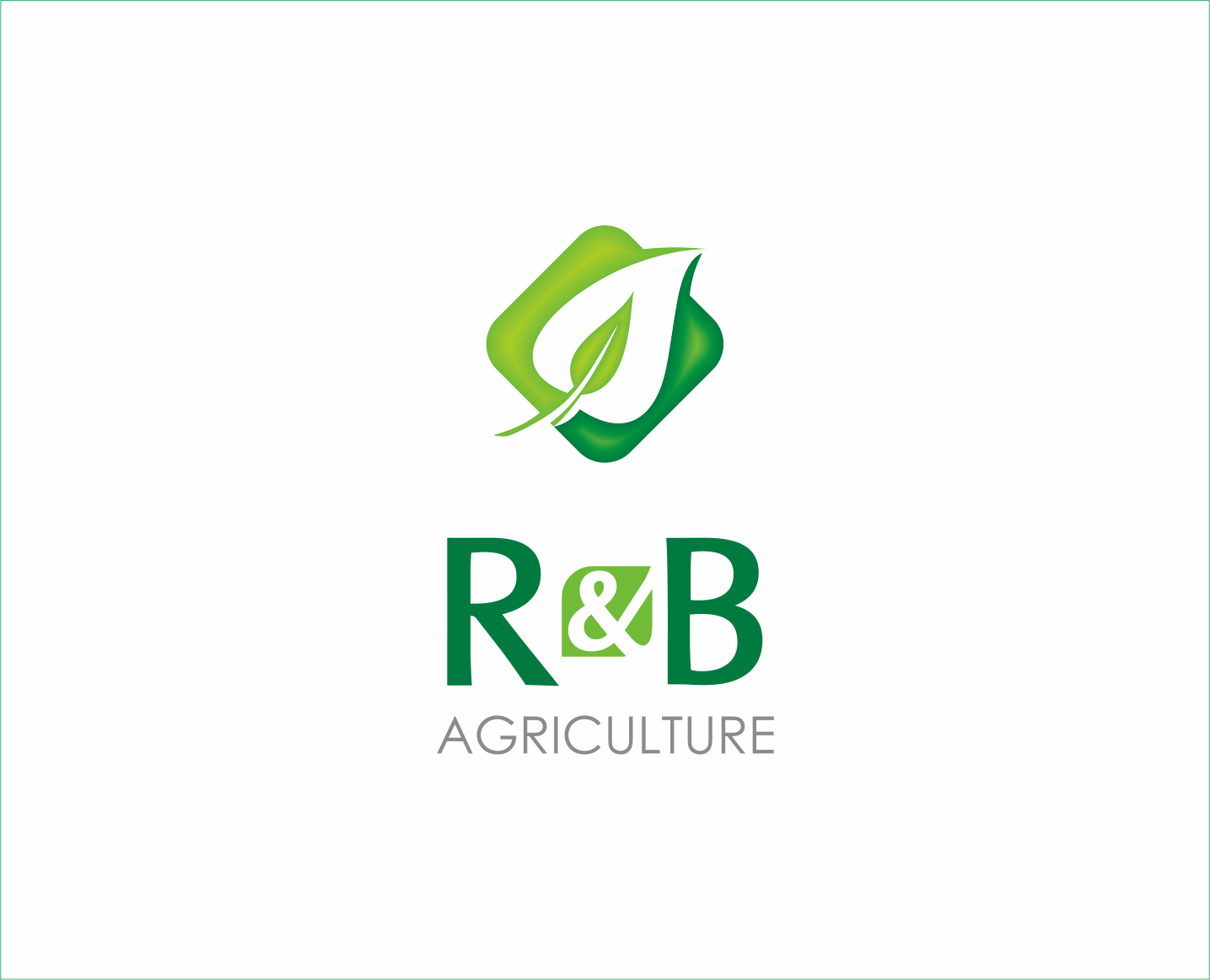 Logo Design by Armada Jamaluddin - Entry No. 76 in the Logo Design Contest Captivating Logo Design for R & B Agriculture.