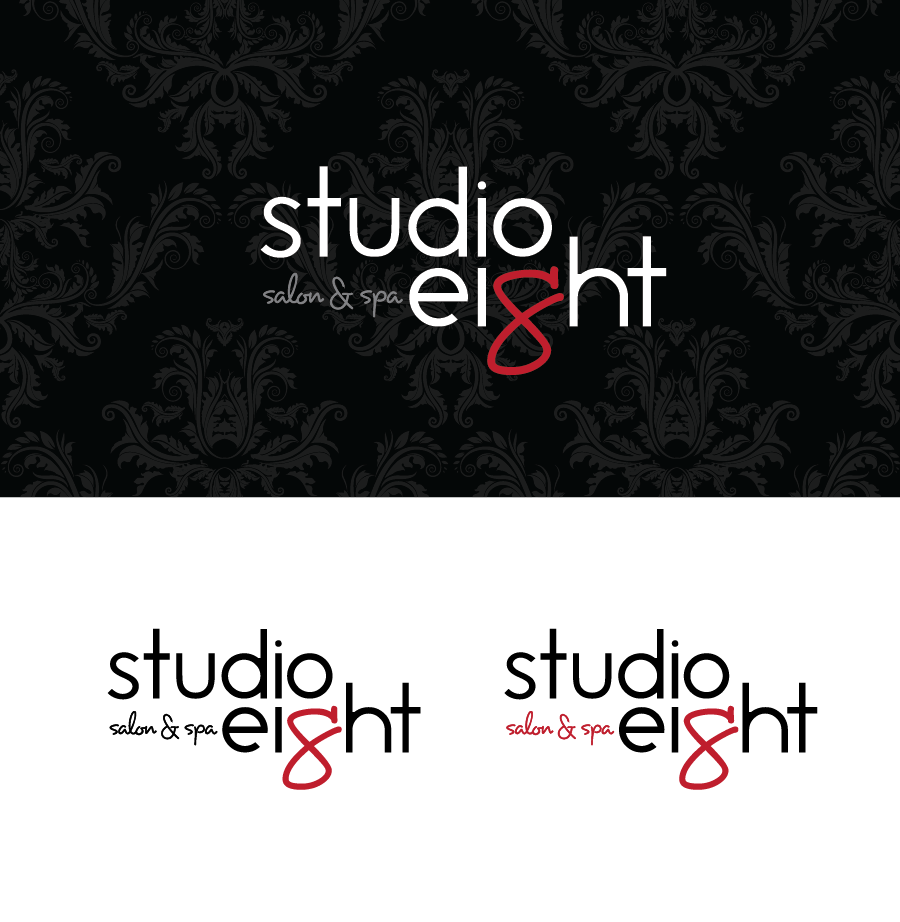 Logo Design by Christina Evans - Entry No. 62 in the Logo Design Contest Captivating Logo Design for studio eight salon & spa.