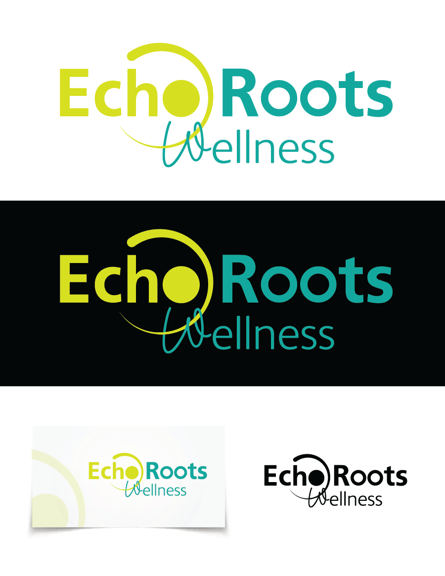 Logo Design by Christina Evans - Entry No. 19 in the Logo Design Contest Funky Logo Design for Echo Roots Wellness.