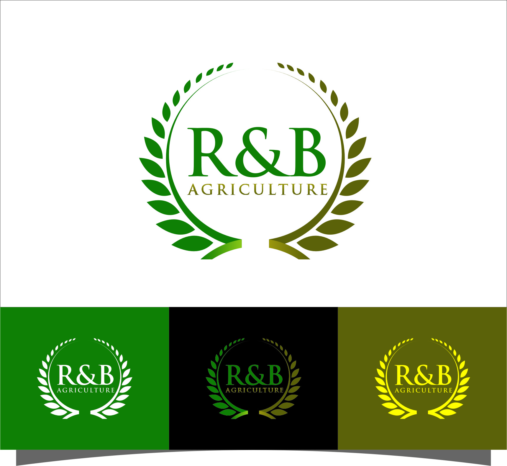 Logo Design by RoSyid Rono-Rene On Java - Entry No. 91 in the Logo Design Contest Captivating Logo Design for R & B Agriculture.