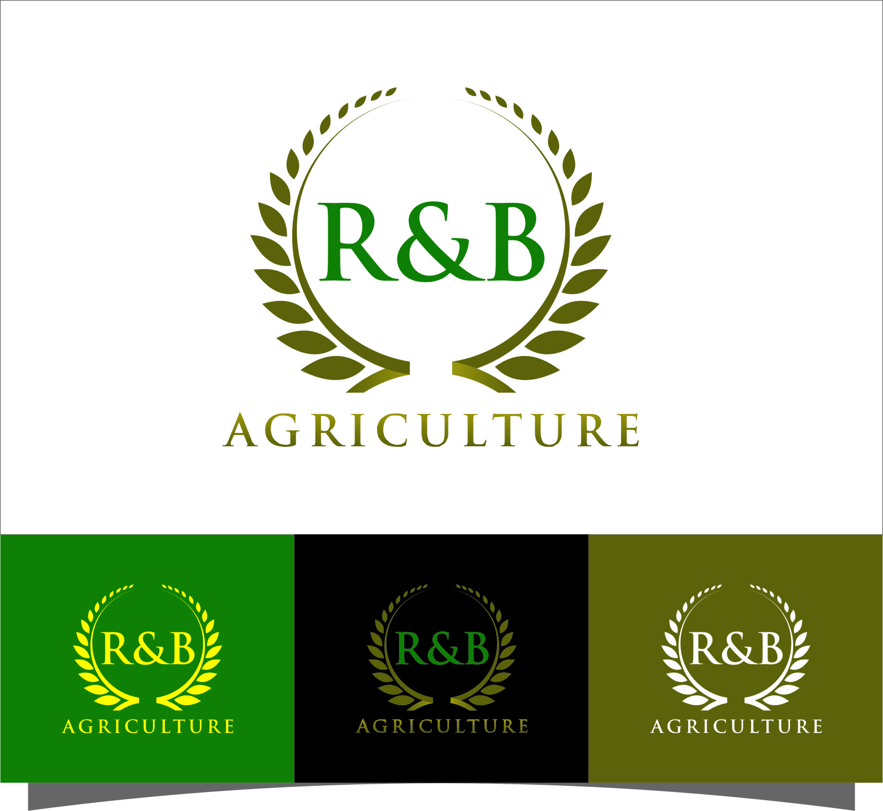 Logo Design by RasYa Muhammad Athaya - Entry No. 92 in the Logo Design Contest Captivating Logo Design for R & B Agriculture.