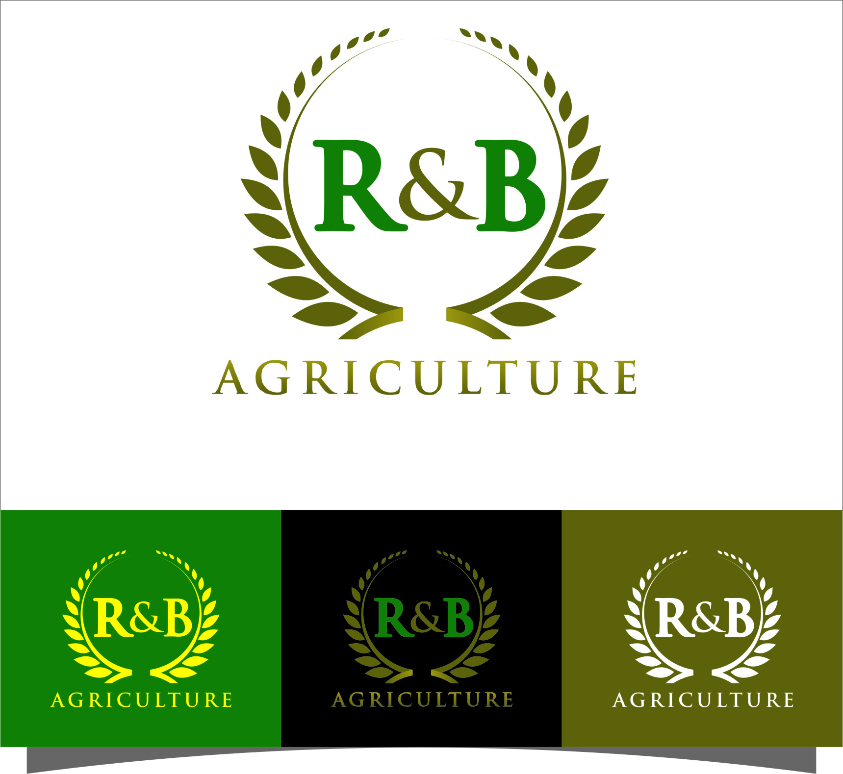 Logo Design by RasYa Muhammad Athaya - Entry No. 93 in the Logo Design Contest Captivating Logo Design for R & B Agriculture.