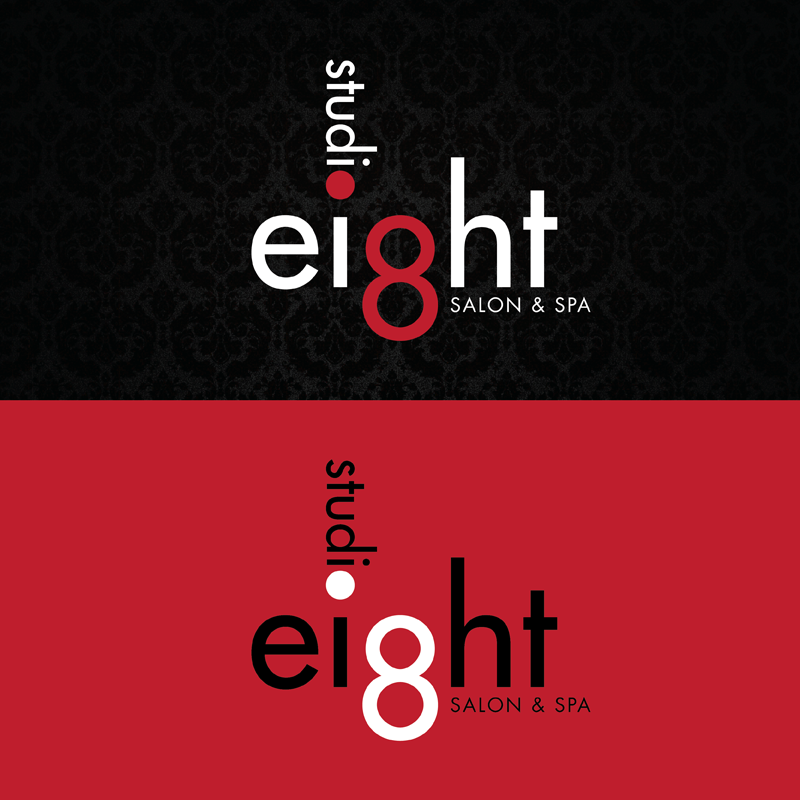 Logo Design by kianoke - Entry No. 63 in the Logo Design Contest Captivating Logo Design for studio eight salon & spa.