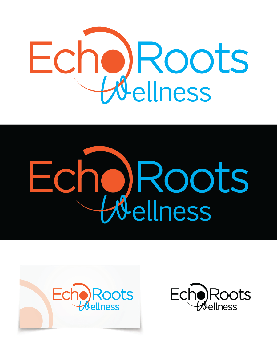 Logo Design by Christina Evans - Entry No. 21 in the Logo Design Contest Funky Logo Design for Echo Roots Wellness.