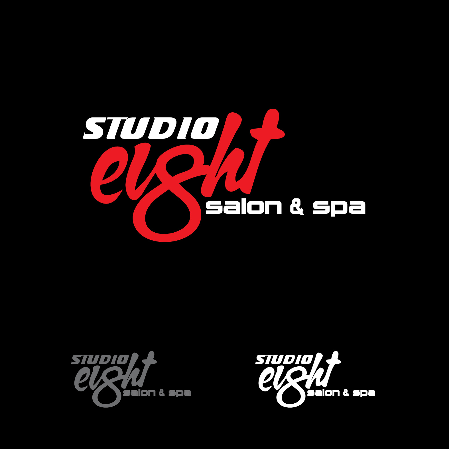 Logo Design by lagalag - Entry No. 65 in the Logo Design Contest Captivating Logo Design for studio eight salon & spa.