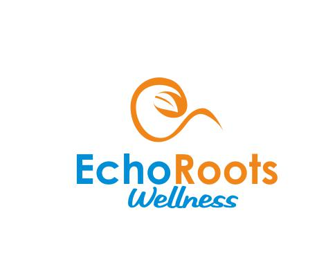 Logo Design by ronny - Entry No. 28 in the Logo Design Contest Funky Logo Design for Echo Roots Wellness.