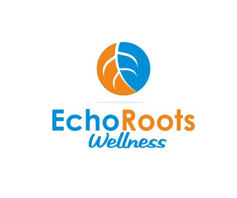 Logo Design by ronny - Entry No. 29 in the Logo Design Contest Funky Logo Design for Echo Roots Wellness.