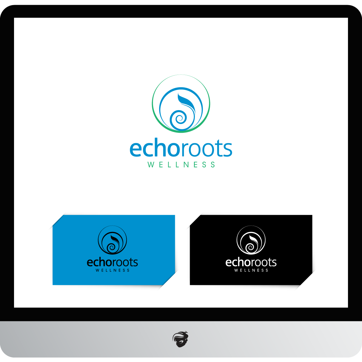Logo Design by zesthar - Entry No. 31 in the Logo Design Contest Funky Logo Design for Echo Roots Wellness.