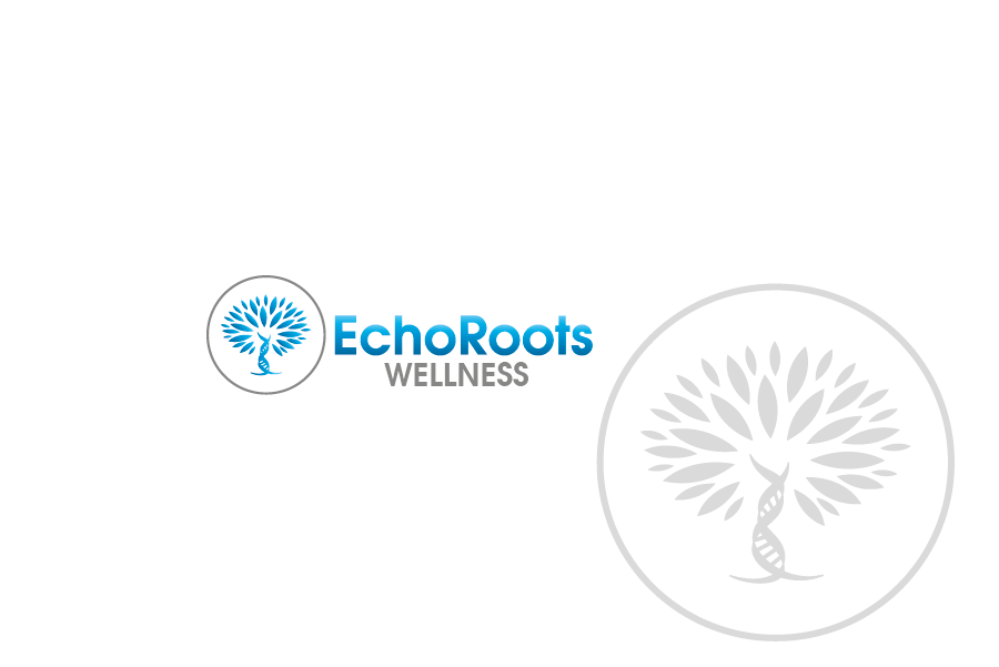 Logo Design by Private User - Entry No. 36 in the Logo Design Contest Funky Logo Design for Echo Roots Wellness.