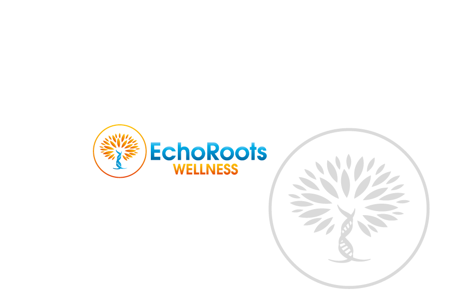 Logo Design by Private User - Entry No. 37 in the Logo Design Contest Funky Logo Design for Echo Roots Wellness.