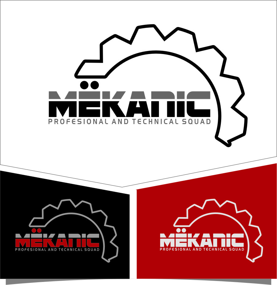 Logo Design by RasYa Muhammad Athaya - Entry No. 301 in the Logo Design Contest Creative Logo Design for MËKANIC - Professional and technical squad.