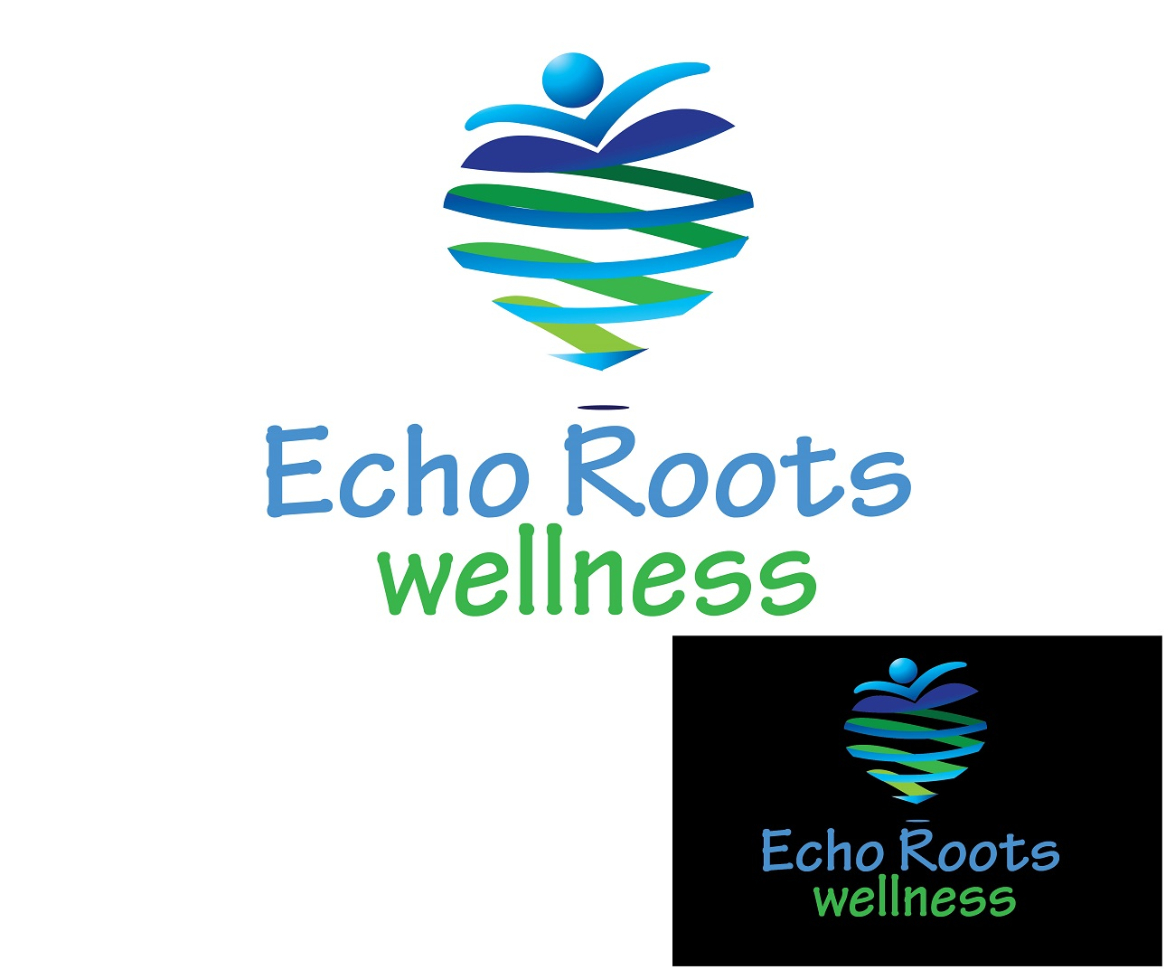 Logo Design by jhunzkie24 - Entry No. 46 in the Logo Design Contest Funky Logo Design for Echo Roots Wellness.