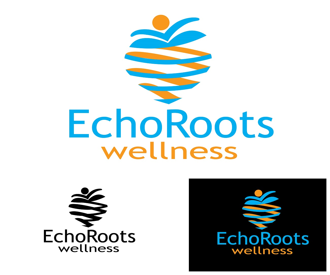 Logo Design by jhunzkie24 - Entry No. 47 in the Logo Design Contest Funky Logo Design for Echo Roots Wellness.