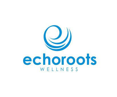 Logo Design by ronny - Entry No. 49 in the Logo Design Contest Funky Logo Design for Echo Roots Wellness.