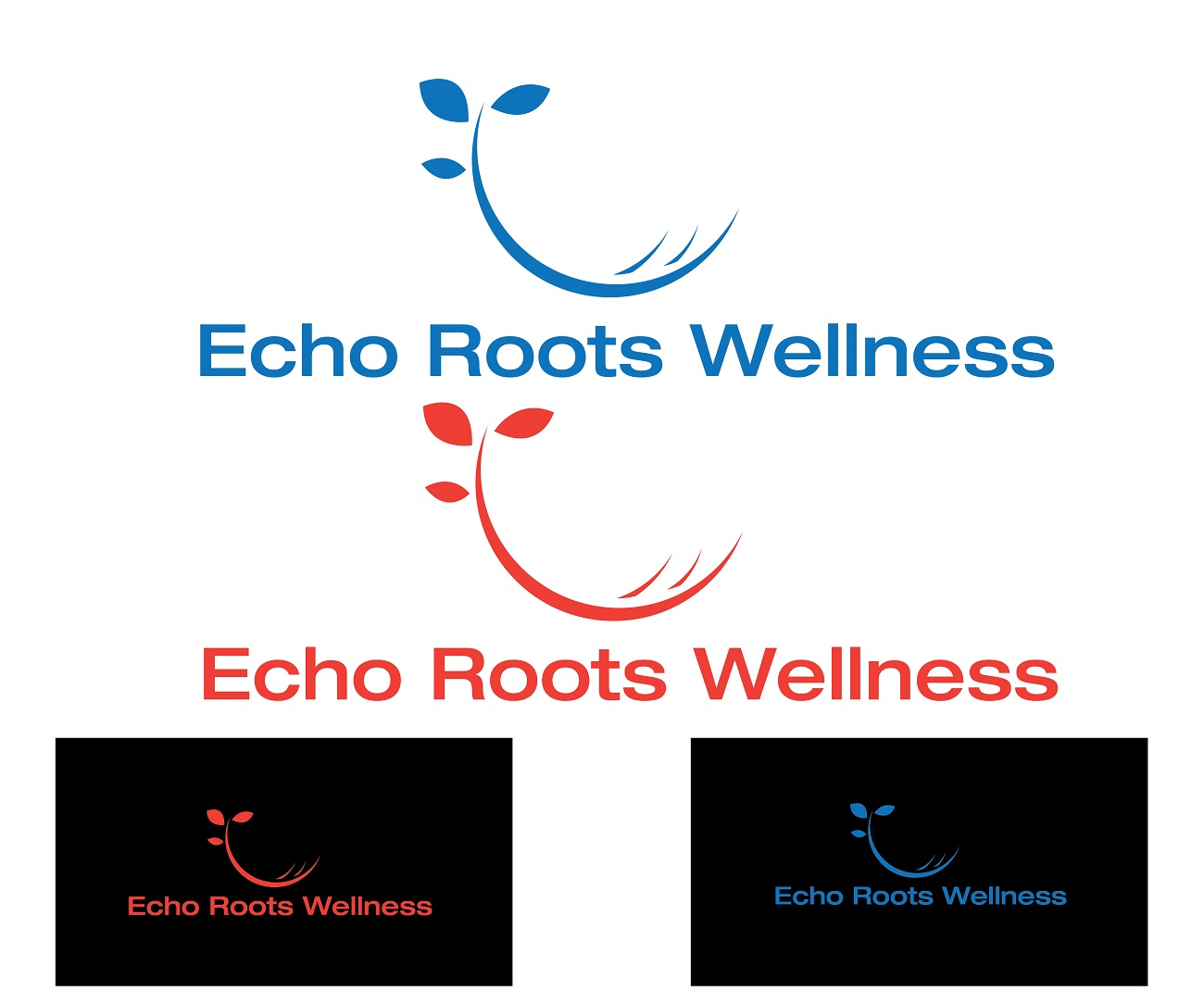 Logo Design by jhunzkie24 - Entry No. 50 in the Logo Design Contest Funky Logo Design for Echo Roots Wellness.