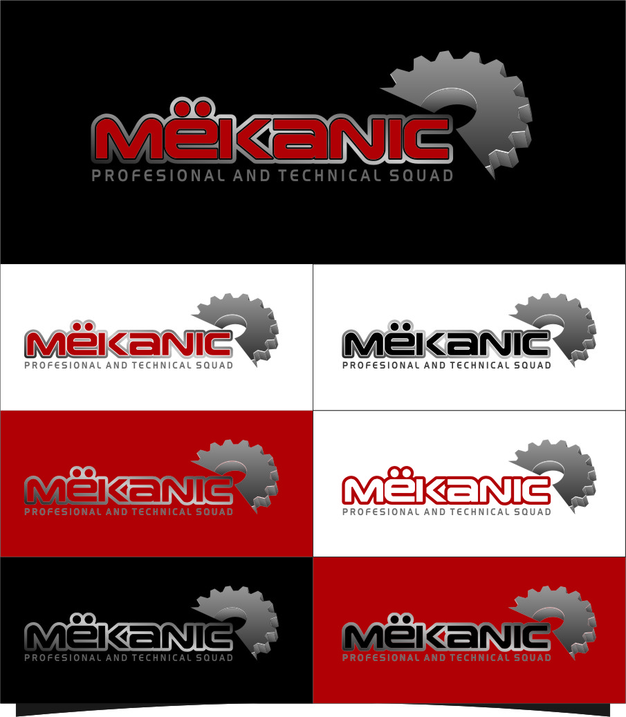Logo Design by RasYa Muhammad Athaya - Entry No. 304 in the Logo Design Contest Creative Logo Design for MËKANIC - Professional and technical squad.