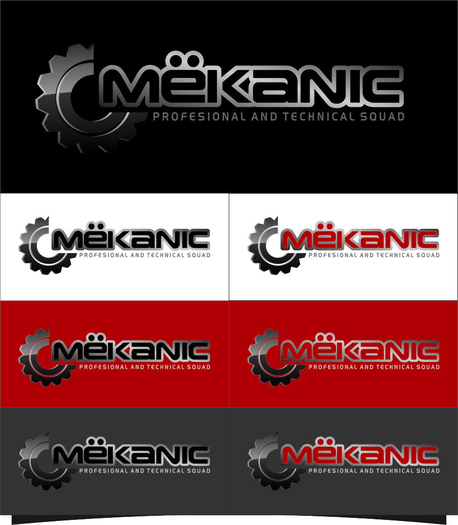 Logo Design by Ngepet_art - Entry No. 308 in the Logo Design Contest Creative Logo Design for MËKANIC - Professional and technical squad.