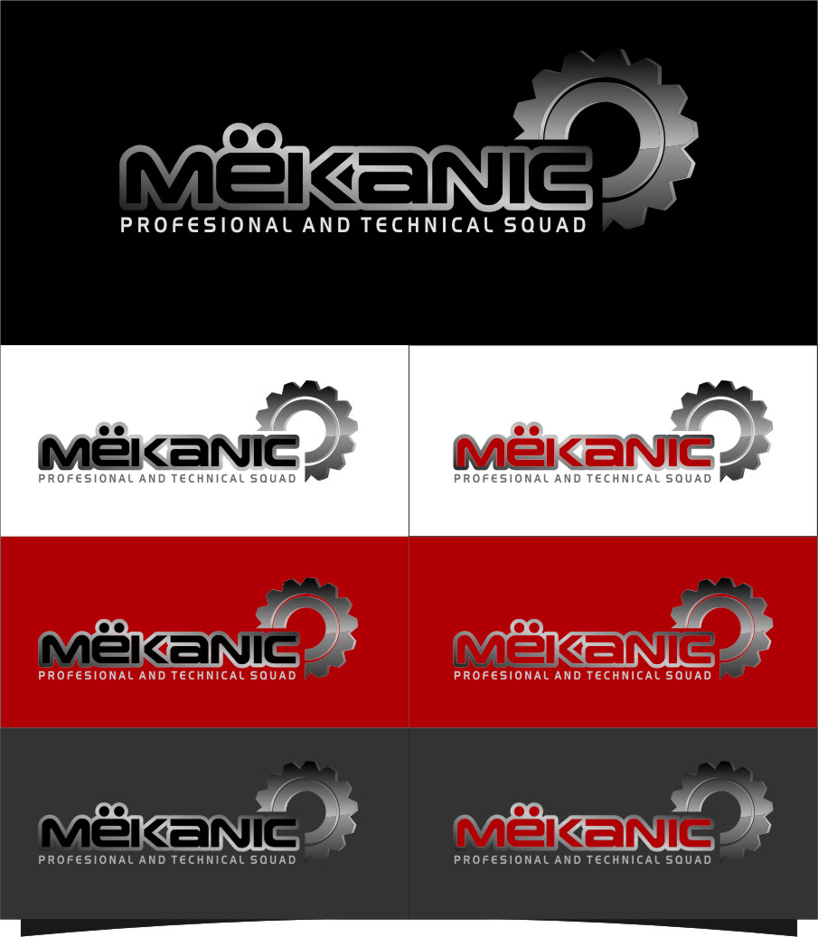 Logo Design by RoSyid Rono-Rene On Java - Entry No. 309 in the Logo Design Contest Creative Logo Design for MËKANIC - Professional and technical squad.