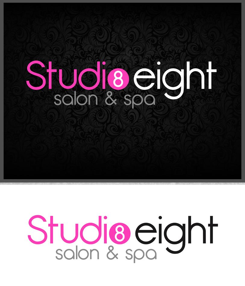 Logo Design by Private User - Entry No. 83 in the Logo Design Contest Captivating Logo Design for studio eight salon & spa.