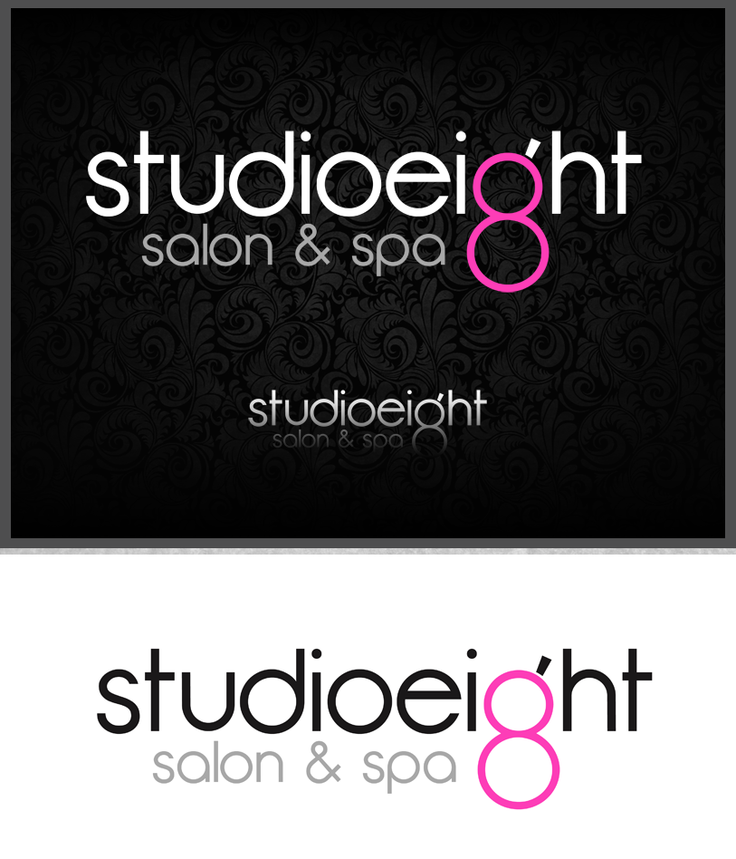 Logo Design by Private User - Entry No. 84 in the Logo Design Contest Captivating Logo Design for studio eight salon & spa.