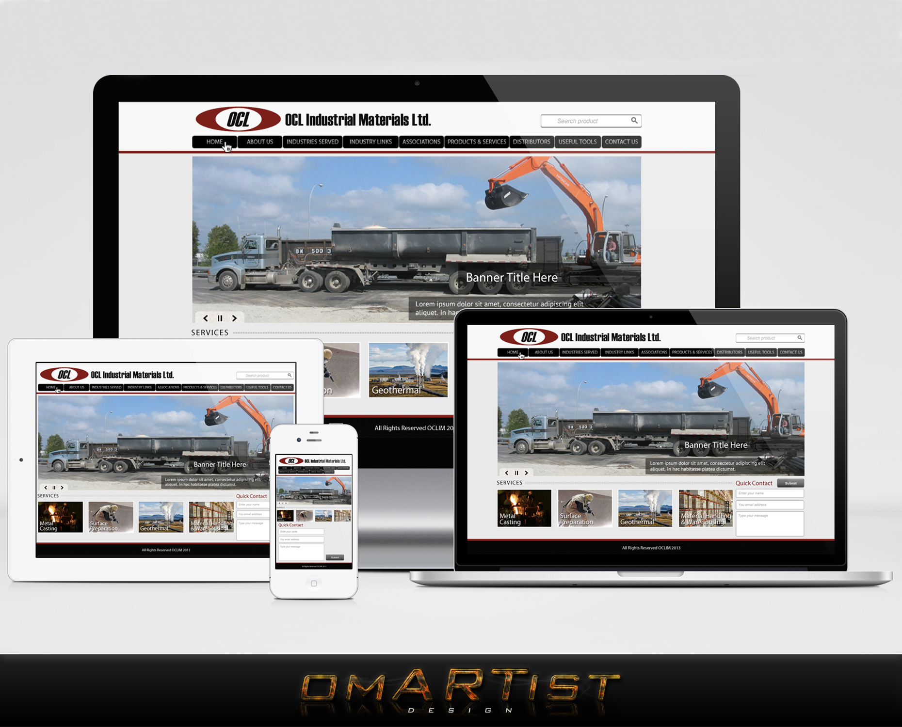 Web Page Design by omARTist - Entry No. 64 in the Web Page Design Contest Imaginative Web Page Design for OCL Industrial Materials Ltd..