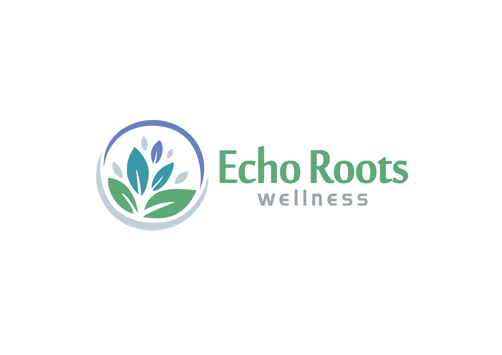Logo Design by Respati Himawan - Entry No. 55 in the Logo Design Contest Funky Logo Design for Echo Roots Wellness.