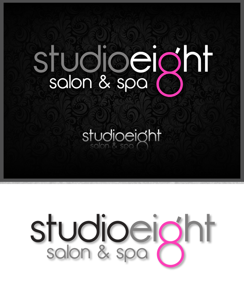 Logo Design by Robert Turla - Entry No. 85 in the Logo Design Contest Captivating Logo Design for studio eight salon & spa.