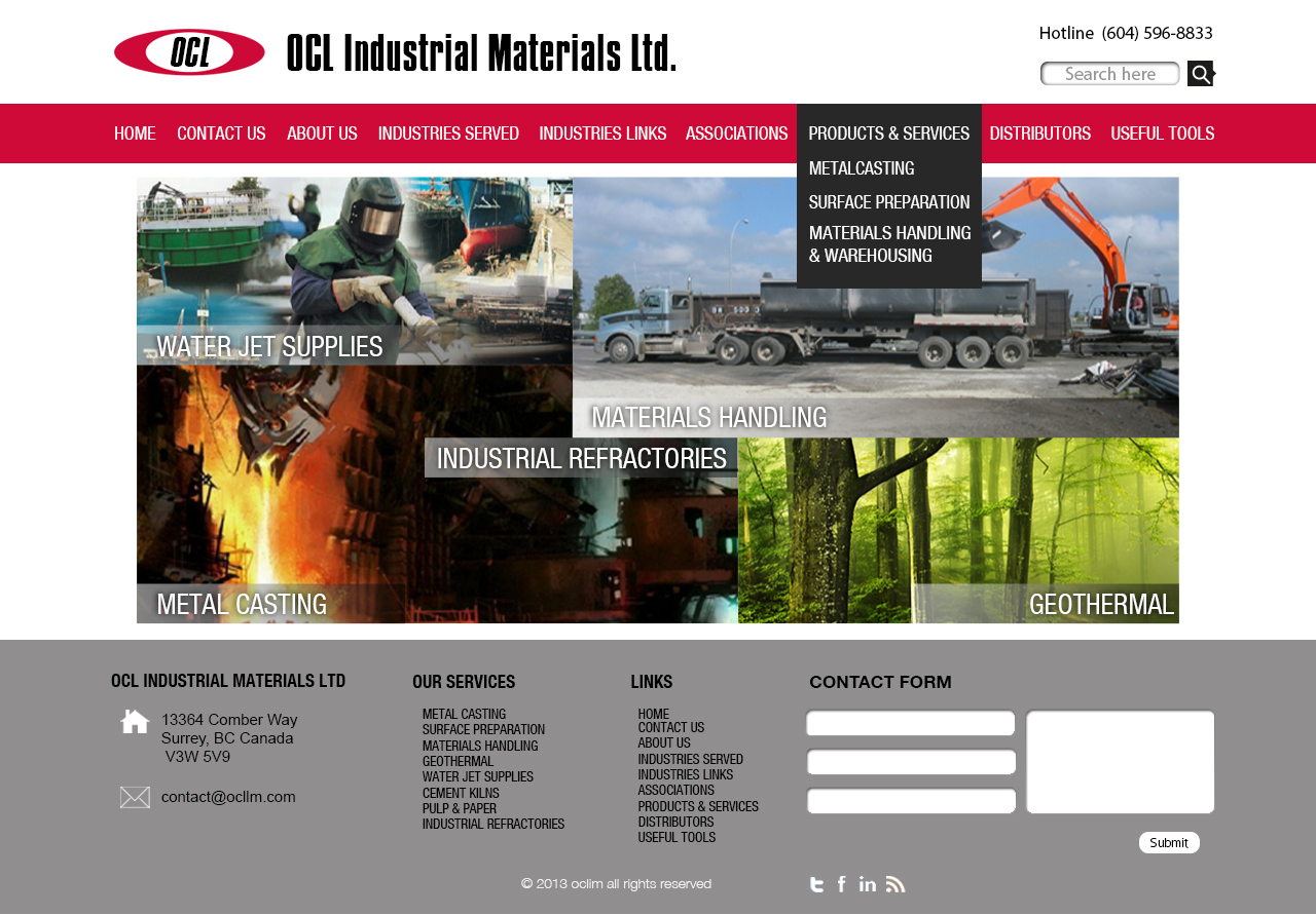 Web Page Design by 3draw - Entry No. 65 in the Web Page Design Contest Imaginative Web Page Design for OCL Industrial Materials Ltd..