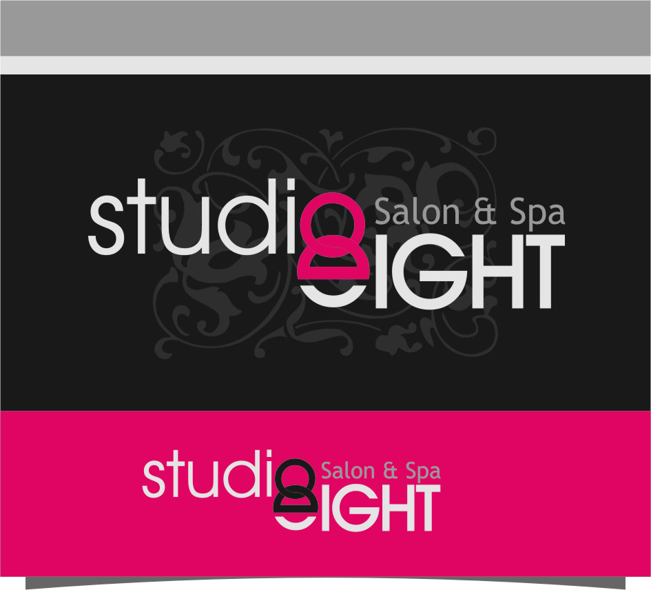 Logo Design by RoSyid Rono-Rene On Java - Entry No. 90 in the Logo Design Contest Captivating Logo Design for studio eight salon & spa.
