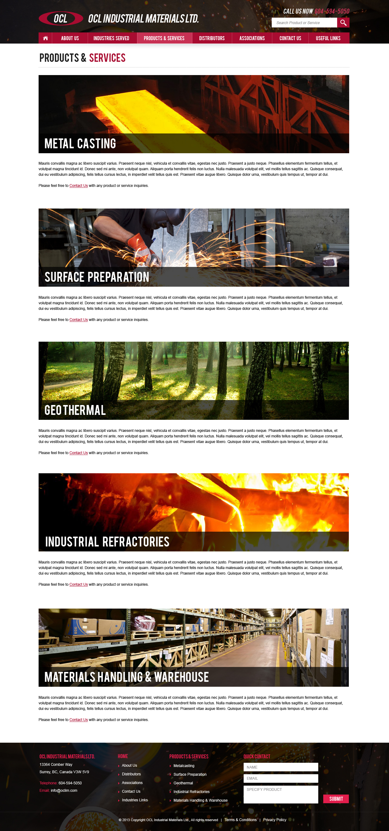 Web Page Design by Emad A Zyed - Entry No. 70 in the Web Page Design Contest Imaginative Web Page Design for OCL Industrial Materials Ltd..