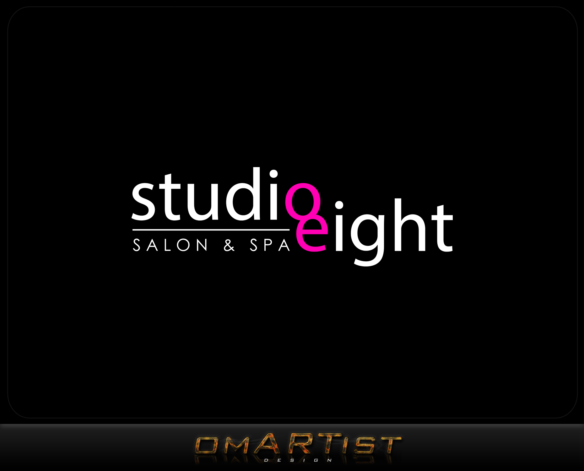 Logo Design by omARTist - Entry No. 91 in the Logo Design Contest Captivating Logo Design for studio eight salon & spa.