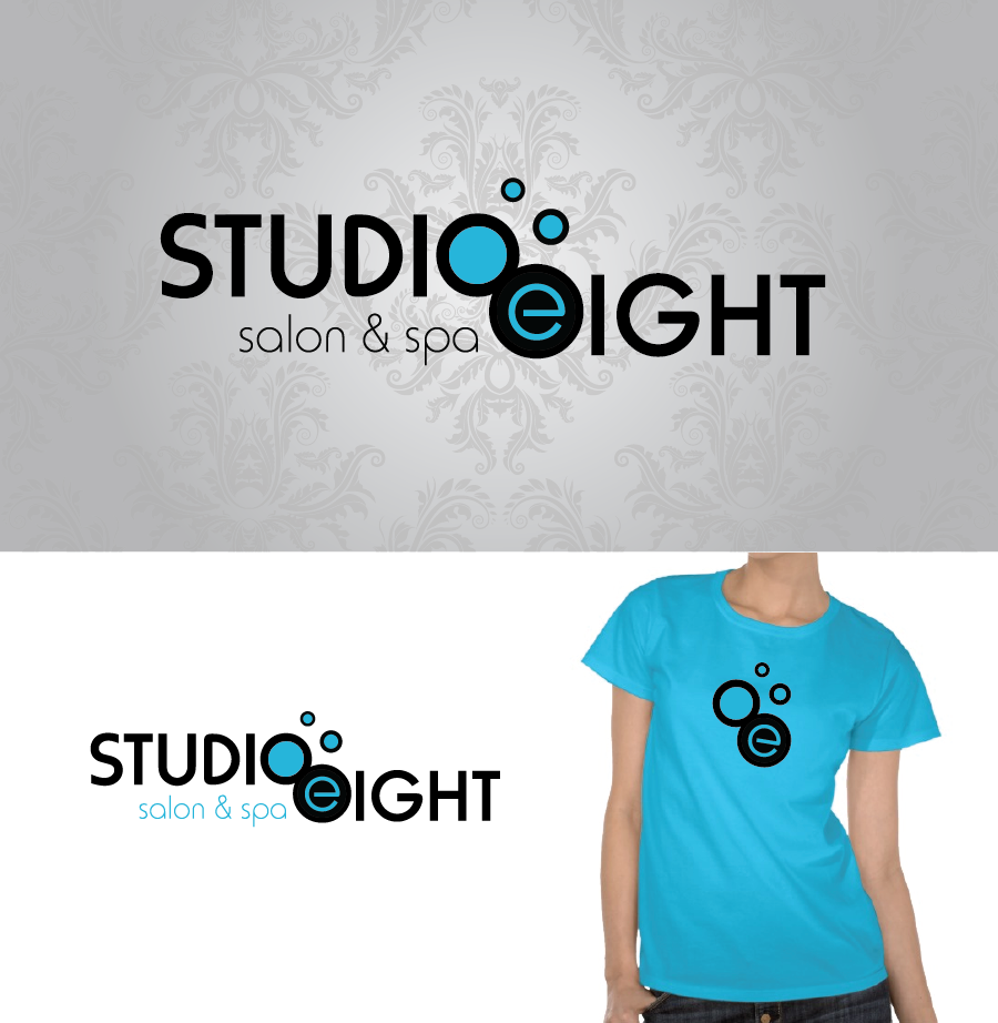 Logo Design by Christina Evans - Entry No. 92 in the Logo Design Contest Captivating Logo Design for studio eight salon & spa.
