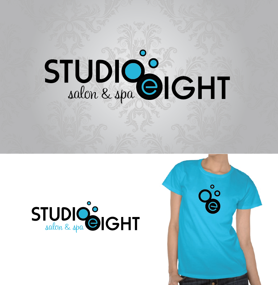 Logo Design by Christina Evans - Entry No. 93 in the Logo Design Contest Captivating Logo Design for studio eight salon & spa.