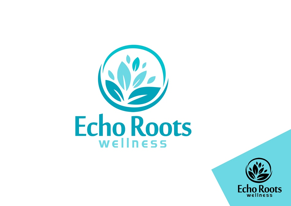 Logo Design by Respati Himawan - Entry No. 59 in the Logo Design Contest Funky Logo Design for Echo Roots Wellness.