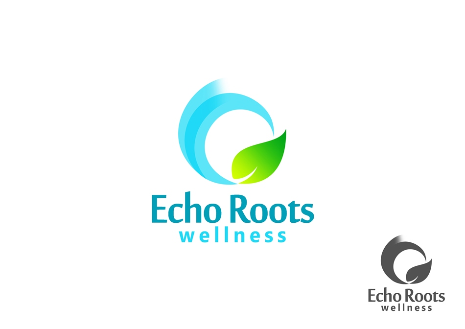 Logo Design by Respati Himawan - Entry No. 60 in the Logo Design Contest Funky Logo Design for Echo Roots Wellness.