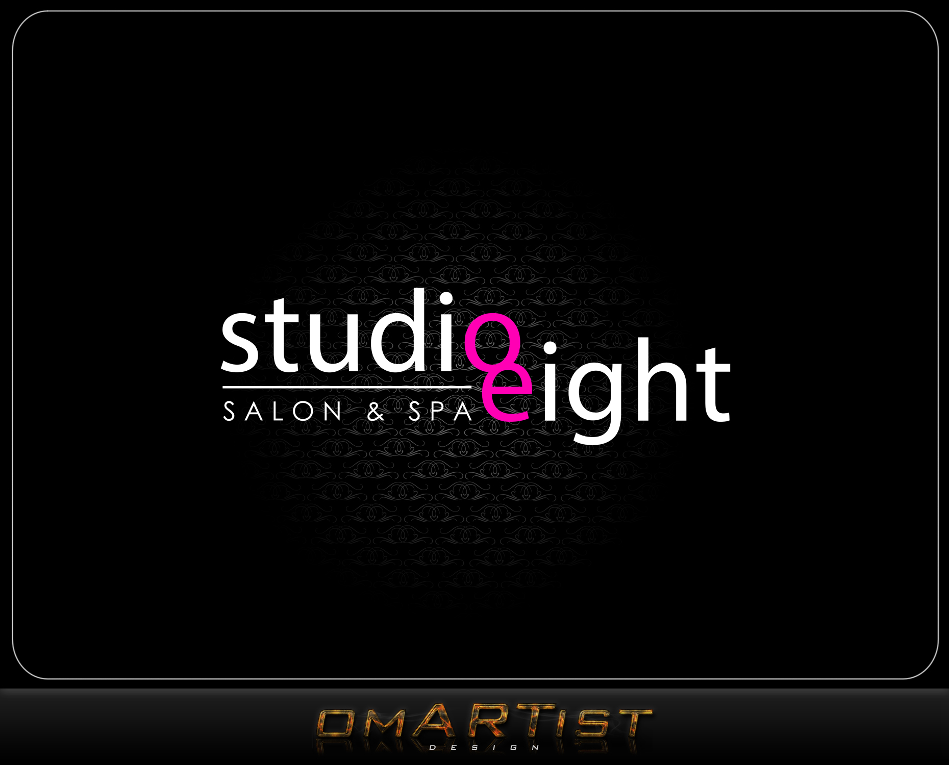Logo Design by omARTist - Entry No. 94 in the Logo Design Contest Captivating Logo Design for studio eight salon & spa.