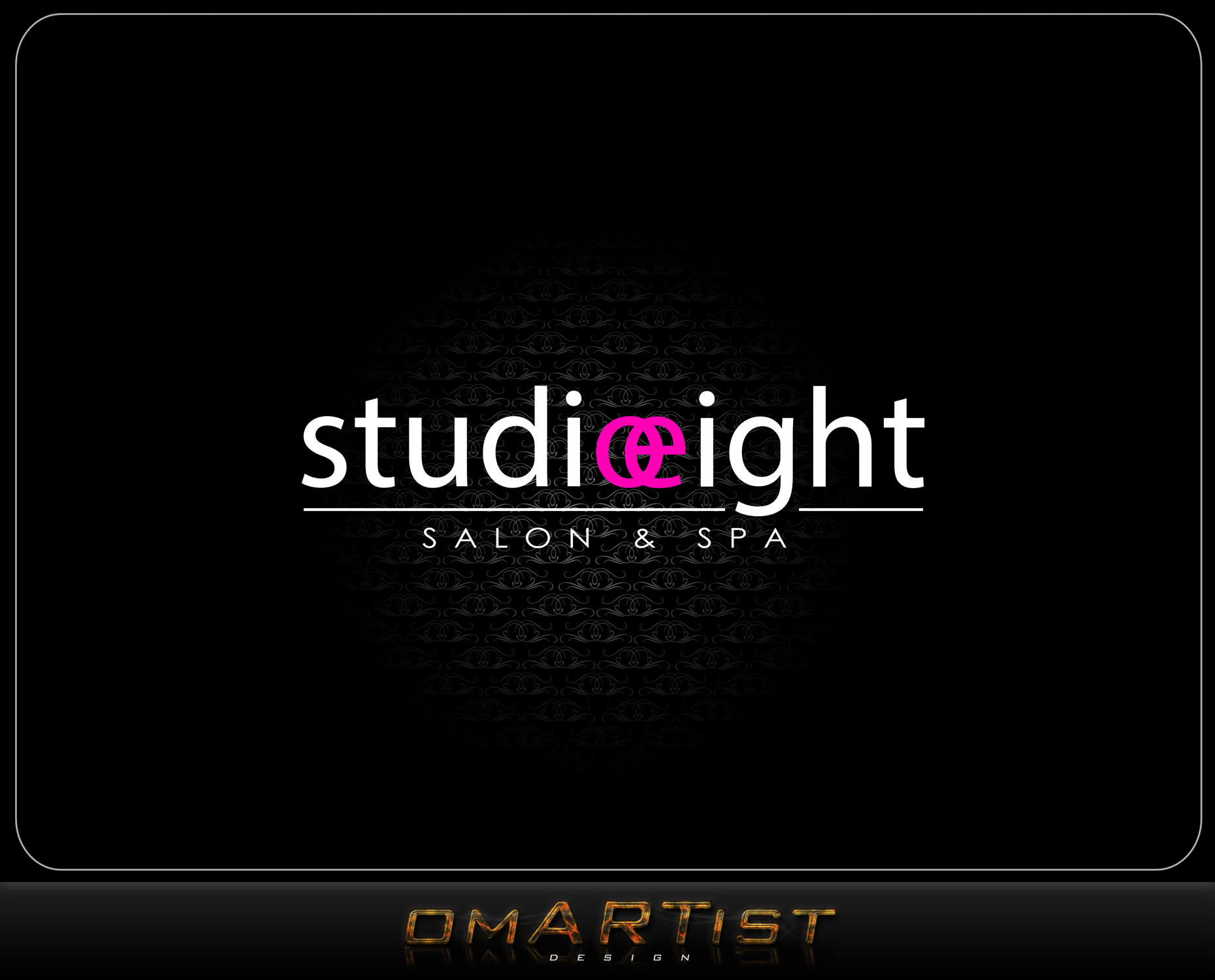 Logo Design by omARTist - Entry No. 95 in the Logo Design Contest Captivating Logo Design for studio eight salon & spa.