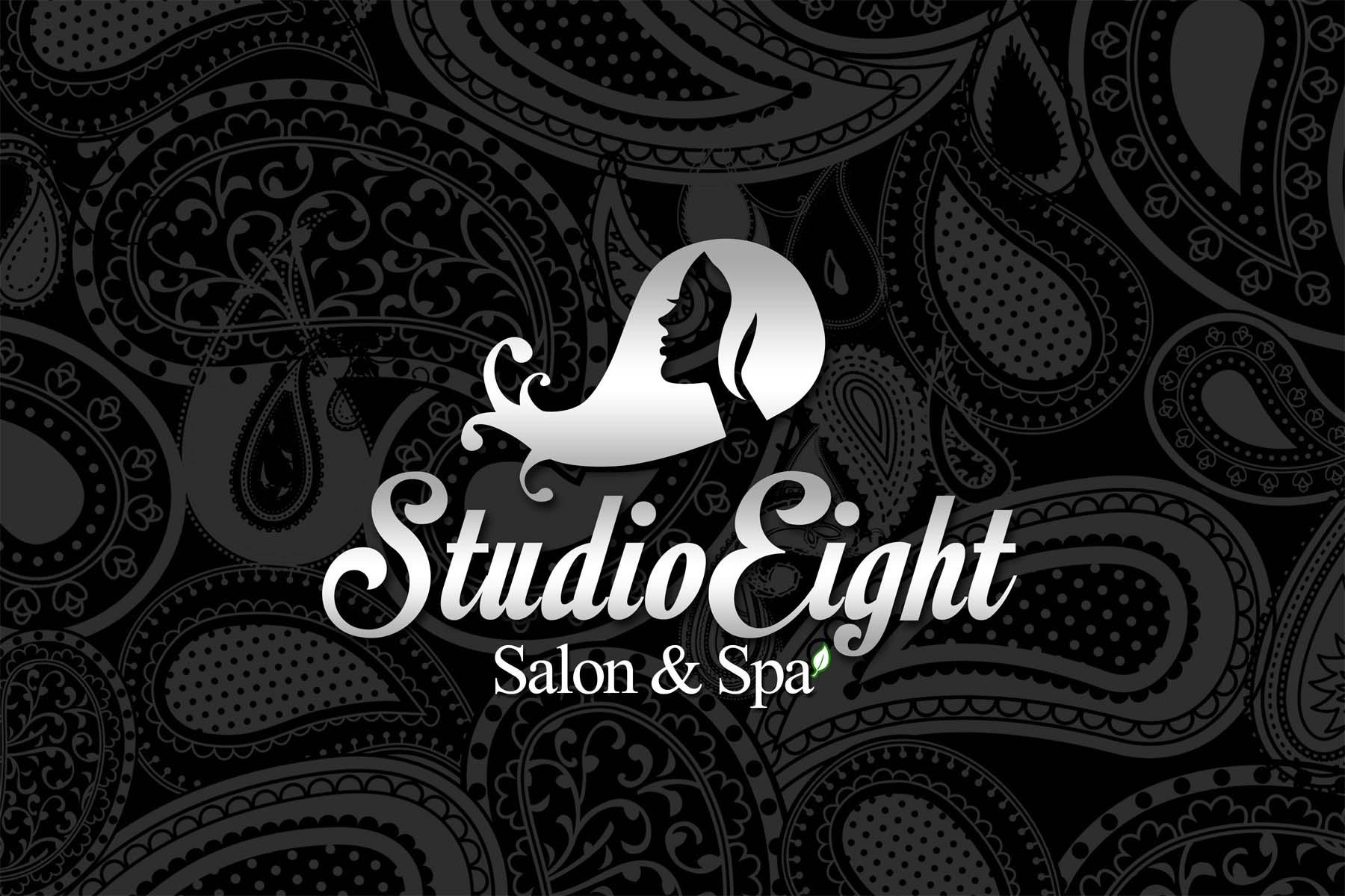 Logo Design by Private User - Entry No. 97 in the Logo Design Contest Captivating Logo Design for studio eight salon & spa.
