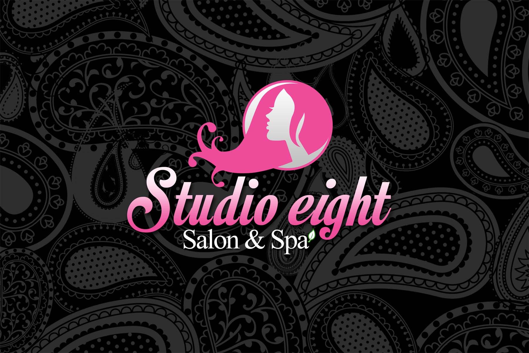 Logo Design by Private User - Entry No. 98 in the Logo Design Contest Captivating Logo Design for studio eight salon & spa.