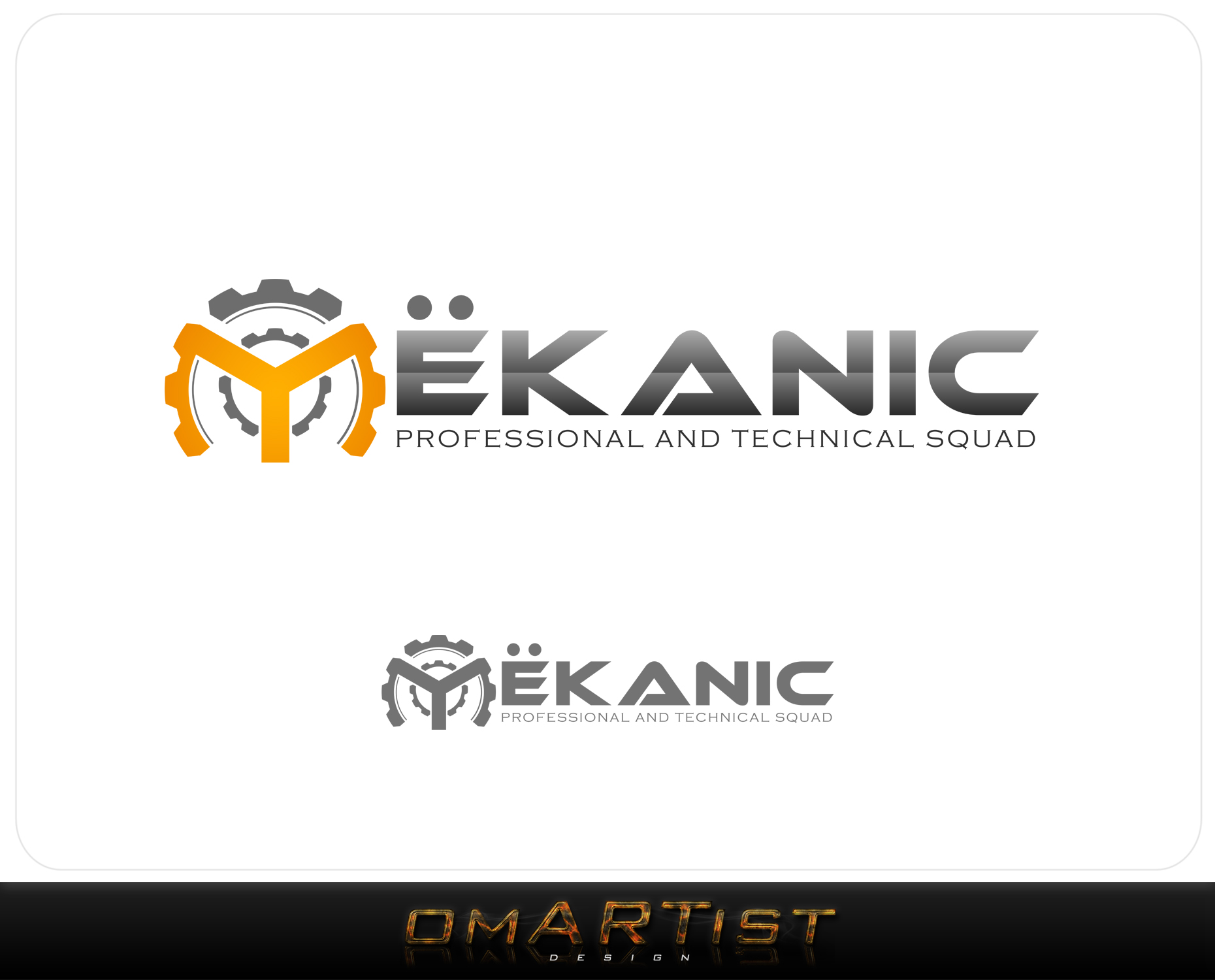 Logo Design by omARTist - Entry No. 354 in the Logo Design Contest Creative Logo Design for MËKANIC - Professional and technical squad.