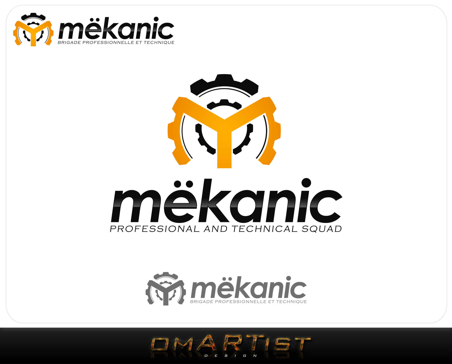 Logo Design by omARTist - Entry No. 355 in the Logo Design Contest Creative Logo Design for MËKANIC - Professional and technical squad.