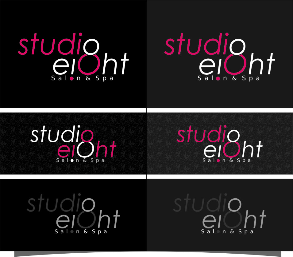 Logo Design by RasYa Muhammad Athaya - Entry No. 103 in the Logo Design Contest Captivating Logo Design for studio eight salon & spa.