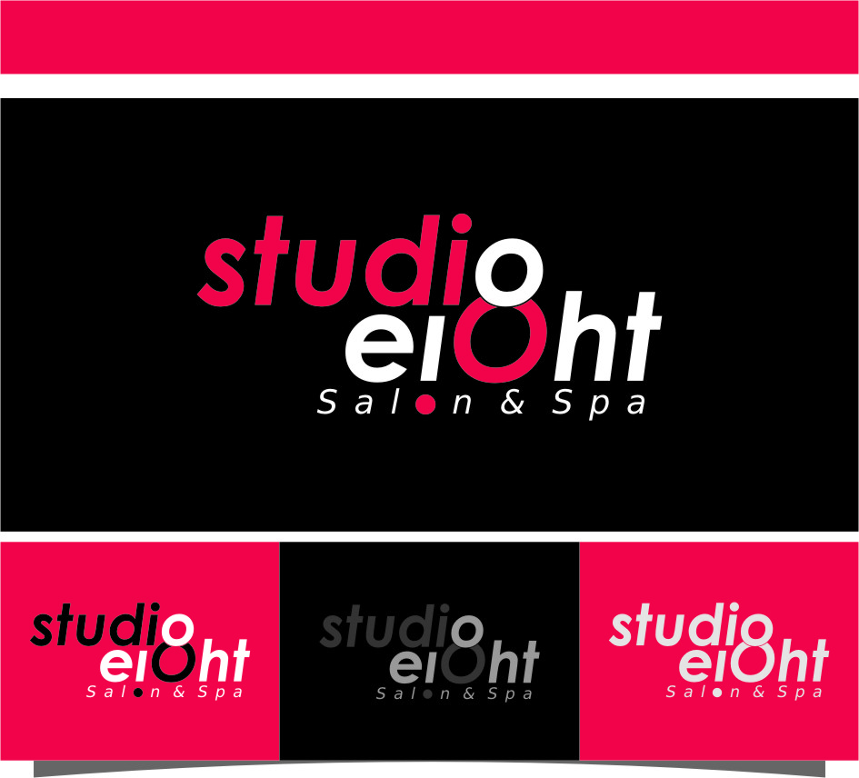 Logo Design by RoSyid Rono-Rene On Java - Entry No. 104 in the Logo Design Contest Captivating Logo Design for studio eight salon & spa.